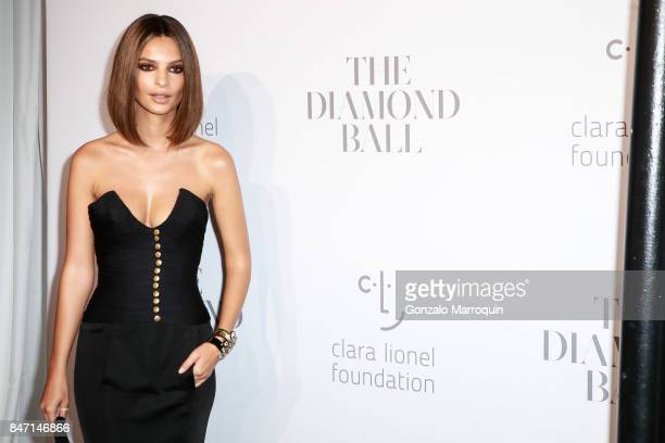 Emily Ratajkowski attends Rihanna's 3rd Annual Diamond Ball at Cipriani Wall Street on September 14 2017 in New York City