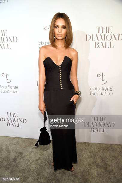 Emily Ratajkowski attends Rihanna's 3rd Annual Diamond Ball Benefitting The Clara Lionel Foundation at Cipriani Wall Street on September 14 2017 in...