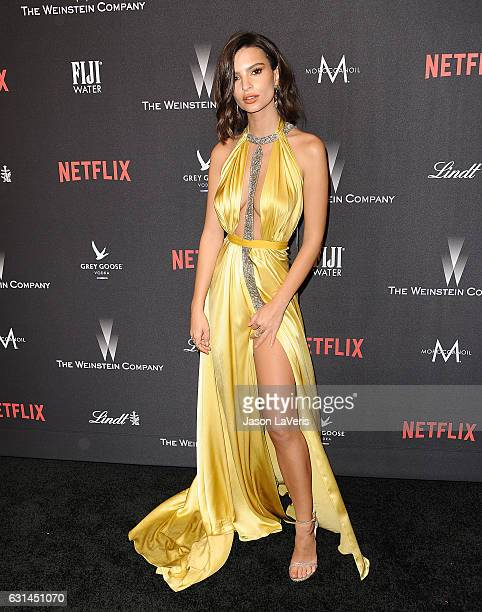 Emily Ratajkowski attends the 2017 Weinstein Company and Netflix Golden Globes after party on January 8 2017 in Los Angeles California