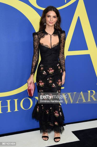 Emily Ratajkowski attends the 2018 CFDA Fashion Awards at Brooklyn Museum on June 4 2018 in New York City