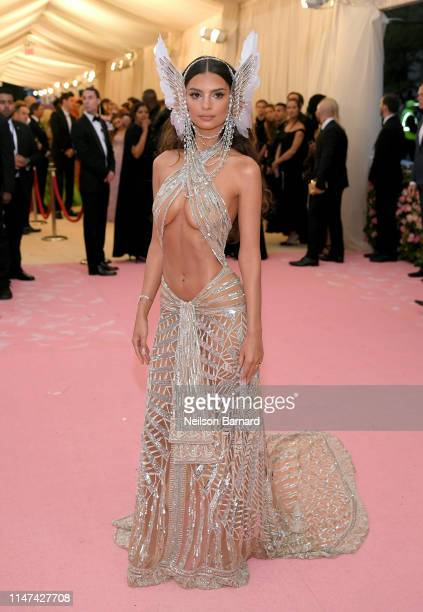 Emily Ratajkowski attends The 2019 Met Gala Celebrating Camp: Notes on Fashion at Metropolitan Museum of Art on May 06, 2019 in New York City.