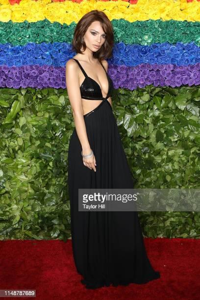 Emily Ratajkowski attends the 2019 Tony Awards at Radio City Music Hall on June 9, 2019 in New York City.