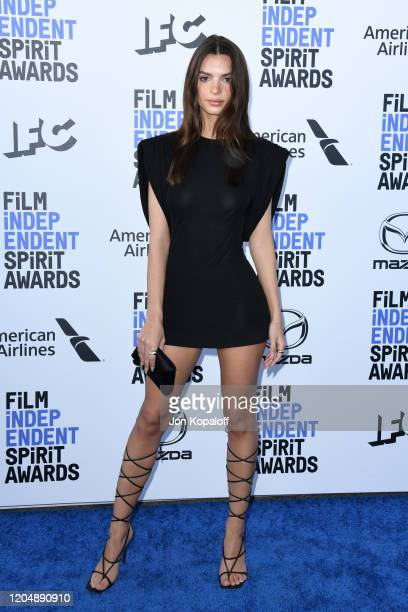 Emily Ratajkowski attends the 2020 Film Independent Spirit Awards on February 08, 2020 in Santa Monica, California.