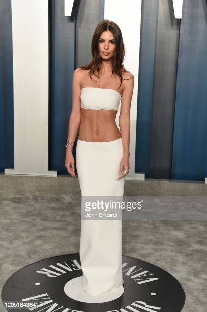Emily Ratajkowski attends the 2020 Vanity Fair Oscar Party hosted by Radhika Jones at Wallis Annenberg Center for the Performing Arts on February 09,...