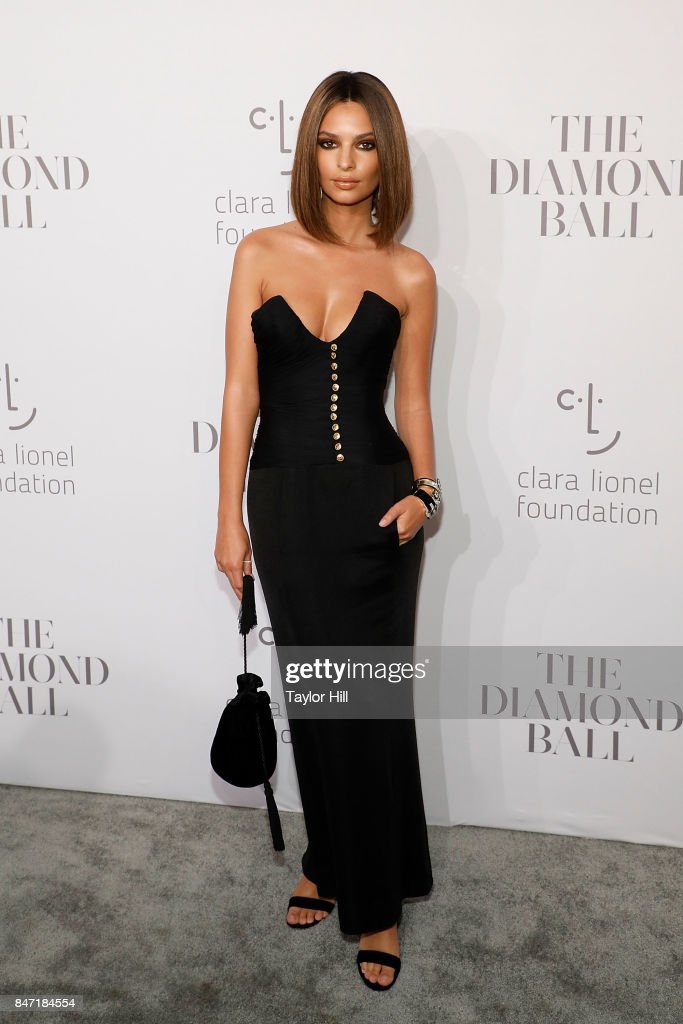 Emily Ratajkowski attends the 3rd Annual Diamond Ball at Cipriani Wall Street on September 14, 2017 in New York City.
