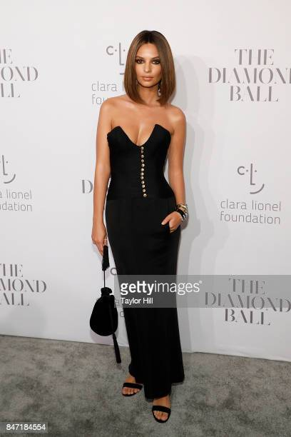 Emily Ratajkowski attends the 3rd Annual Diamond Ball at Cipriani Wall Street on September 14 2017 in New York City