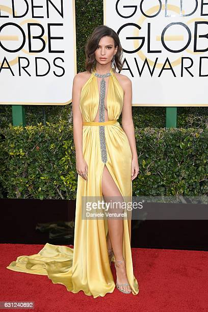 Emily Ratajkowski attends the 74th Annual Golden Globe Awards at The Beverly Hilton Hotel on January 8 2017 in Beverly Hills California