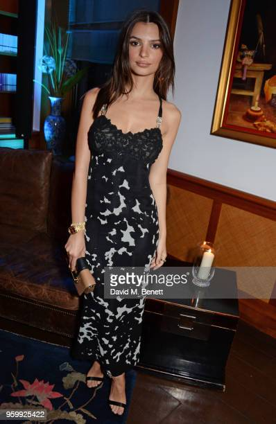 Emily Ratajkowski attends the ABB Formula E dinner in Berlin ahead of the BMW i Berlin EPrix at China Club on May 18 2018 in Berlin Germany