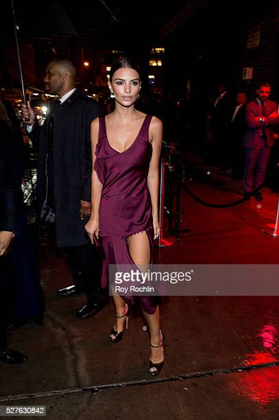Emily Ratajkowski attends the after Party at the Standard Hotel following Manus x Machina Fashion In An Age Of Technology Costume Institute Gala on...