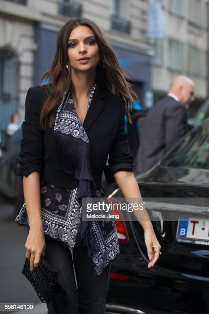 Emily Ratajkowski attends the Altuzarra show on September 30 2017 in Paris France