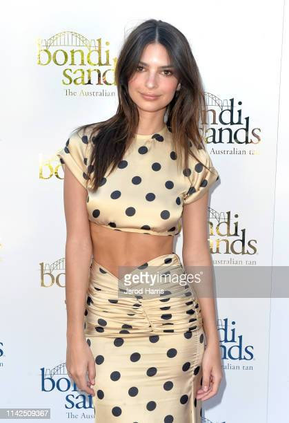 Emily Ratajkowski attends the Bondi Sands Aero Launch Party on April 13 2019 in Palm Springs California