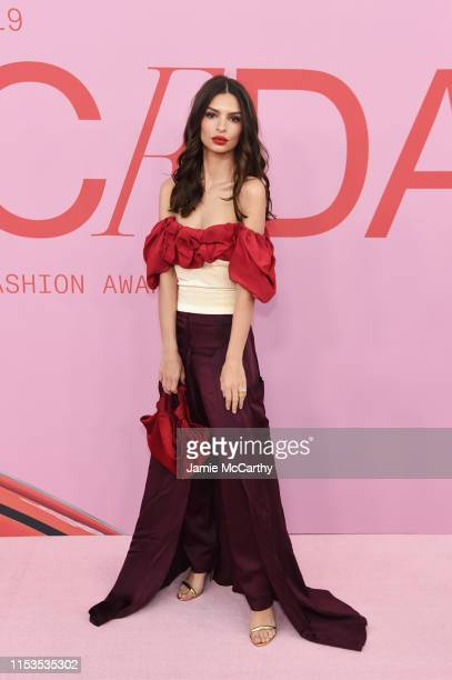 Emily Ratajkowski attends the CFDA Fashion Awards at the Brooklyn Museum of Art on June 03, 2019 in New York City.