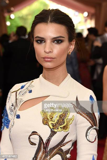 Emily Ratajkowski attends the China Through The Looking Glass Costume Institute Benefit Gala at the Metropolitan Museum of Art on May 4 2015 in New...