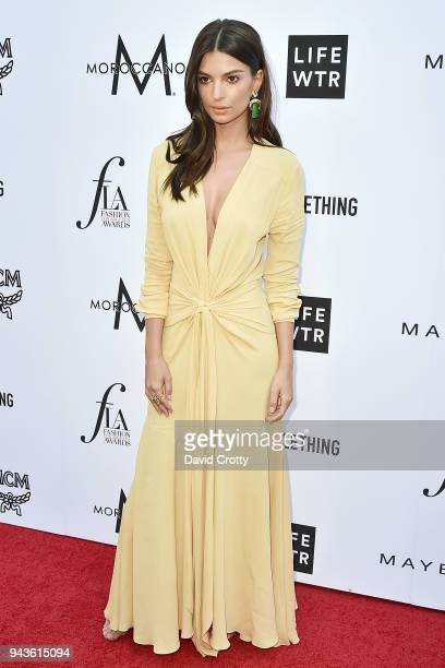 Emily Ratajkowski attends The Daily Front Row's 4th Annual Fashion Los Angeles Awards - Arrivals at The Beverly Hills Hotel on April 8, 2018 in...