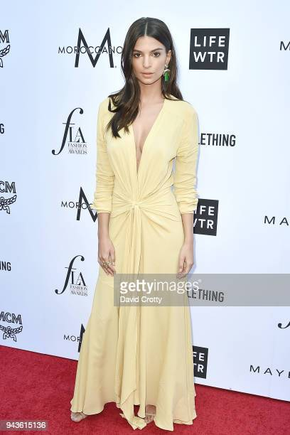 Emily Ratajkowski attends The Daily Front Row's 4th Annual Fashion Los Angeles Awards Arrivals at The Beverly Hills Hotel on April 8 2018 in Beverly...