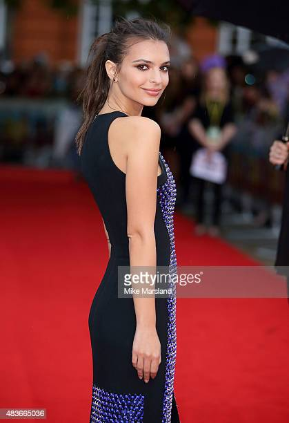 Emily Ratajkowski attends the European Premiere of We Are Your Friends at Ritzy Brixton on August 11 2015 in London England