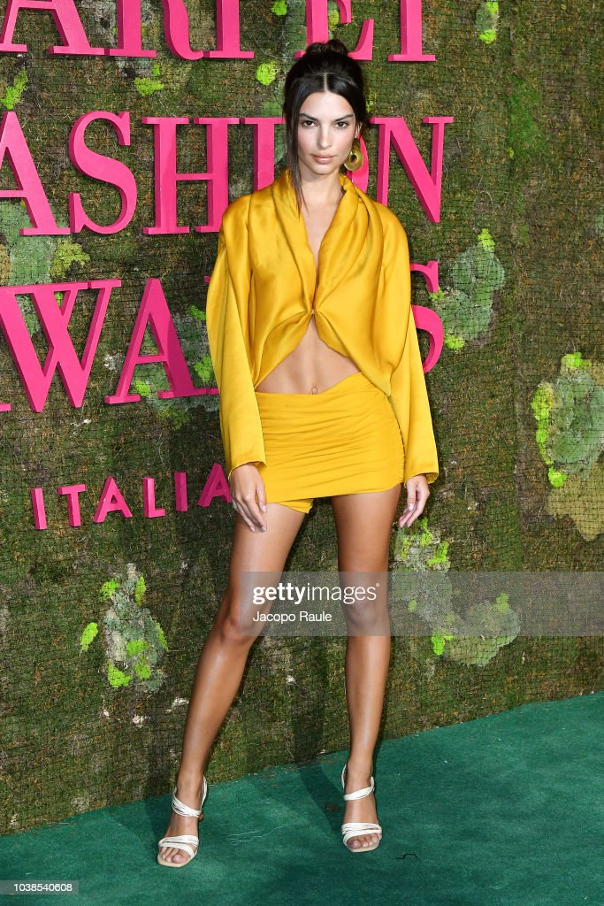 c0332e57df Emily Ratajkowski attends the Green Carpet Fashion Awards at Teatro ...