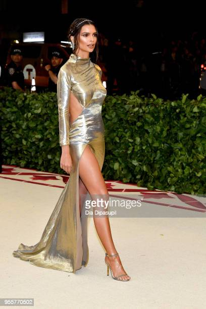 Emily Ratajkowski attends the Heavenly Bodies Fashion The Catholic Imagination Costume Institute Gala at The Metropolitan Museum of Art on May 7 2018...