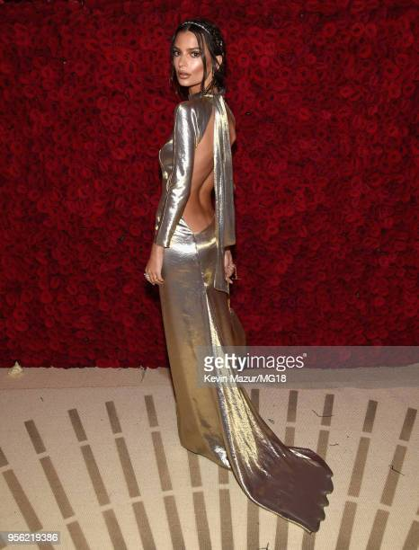 Emily Ratajkowski attends the Heavenly Bodies: Fashion & The Catholic Imagination Costume Institute Gala at The Metropolitan Museum of Art on May 7,...