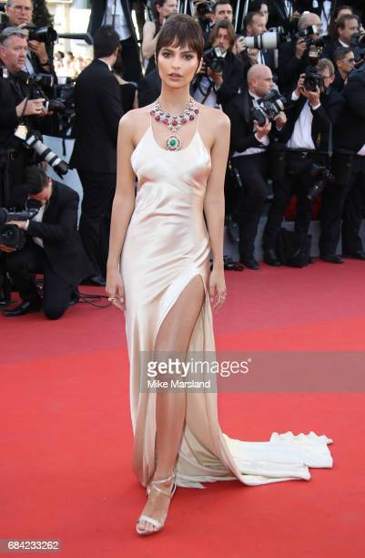 Emily Ratajkowski attends the Ismael's Ghosts screening and Opening Gala during the 70th annual Cannes Film Festival at Palais des Festivals on May...