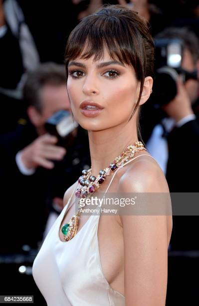 "Emily Ratajkowski attends the ""Ismael's Ghosts "" screening and Opening Gala during the 70th annual Cannes Film Festival at Palais des Festivals on..."