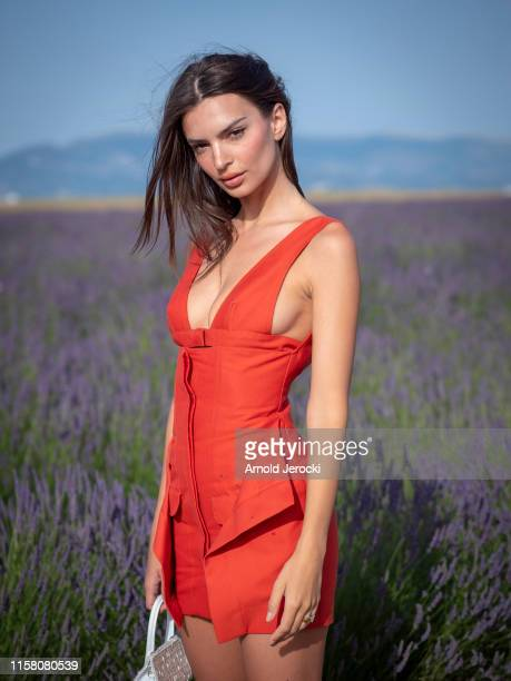 Emily Ratajkowski attends the Jacquemus Spring Summer 2020 show on June 24 2019 in Valensole France