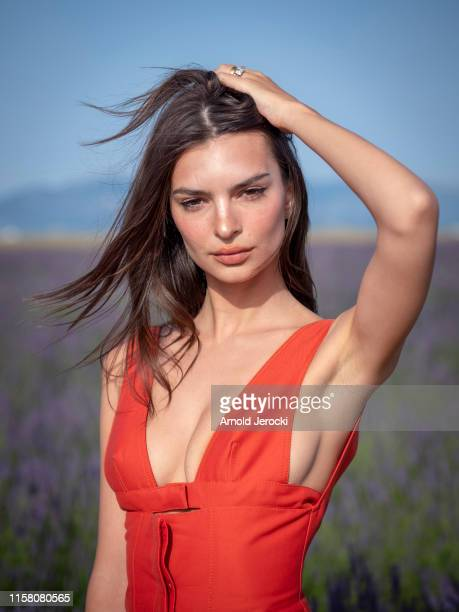 Emily Ratajkowski attends the Jacquemus Spring Summer 2020 show on June 24, 2019 in Valensole, France.