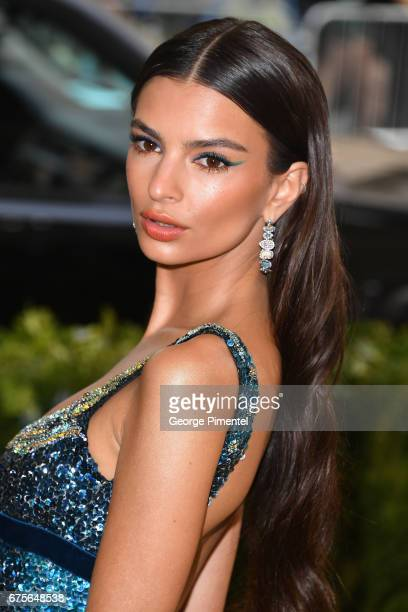 Emily Ratajkowski attends the 'Rei Kawakubo/Comme des Garcons Art Of The InBetween' Costume Institute Gala at Metropolitan Museum of Art on May 1...