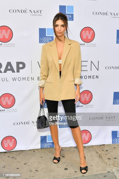 Emily Ratajkowski attends the WrapWomen Power Women Breakfast at Tribeca Grill on July 09 2019 in New York City