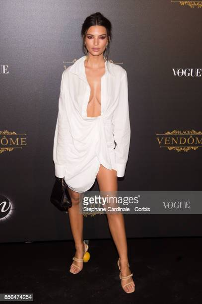 Emily Ratajkowski attends Vogue Party as part of the Paris Fashion Week Womenswear Spring/Summer 2018 at on October 1 2017 in Paris France