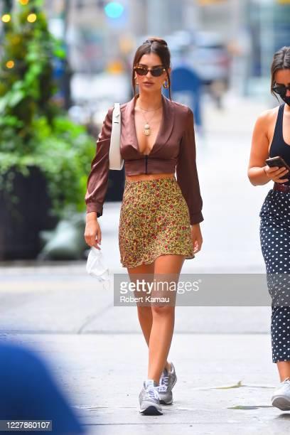 Emily Ratajkowski is seen in Manhattan on July 31, 2020 in New York City.