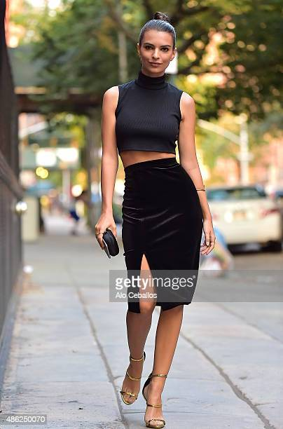 Emily Ratajkowski is seen in the West Village on September 2 2015 in New York City