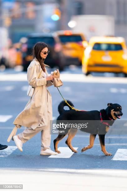 Emily Ratajkowski is seen in Tribeca on February 17, 2020 in New York City.