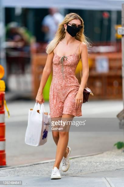 Emily Ratajkowski is seen in Tribeca on June 25, 2020 in New York City.
