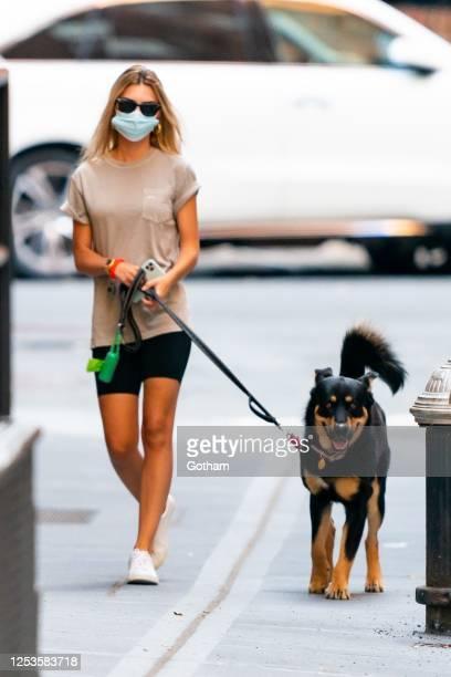 Emily Ratajkowski is seen in Tribeca on June 30, 2020 in New York City.