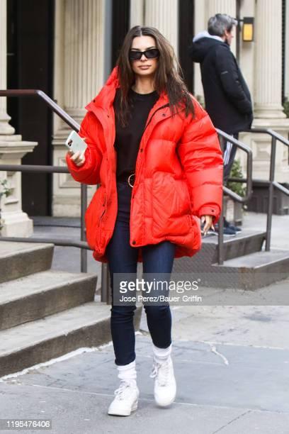 Emily Ratajkowski is seen on January 23, 2020 in New York City.