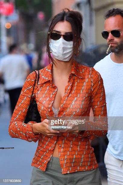 Emily Ratajkowski is seen on July 29, 2020 in New York City.