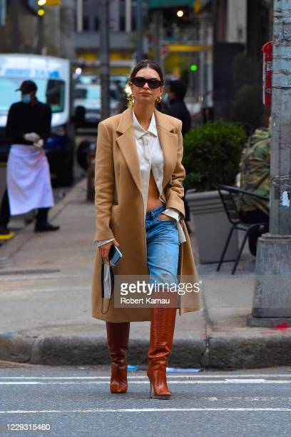 Emily Ratajkowski is seen on October 27 2020 in New York City