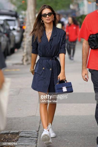 Emily Ratajkowski is seen on September 11 2018 in New York City