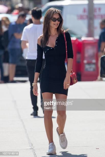 Emily Ratajkowski is seen on September 5, 2018 in New York City.