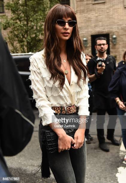 Emily Ratajkowski is seen outside the Marc Jacobs show during New York Fashion Week Women's S/S 2018 on September 13 2017 in New York City