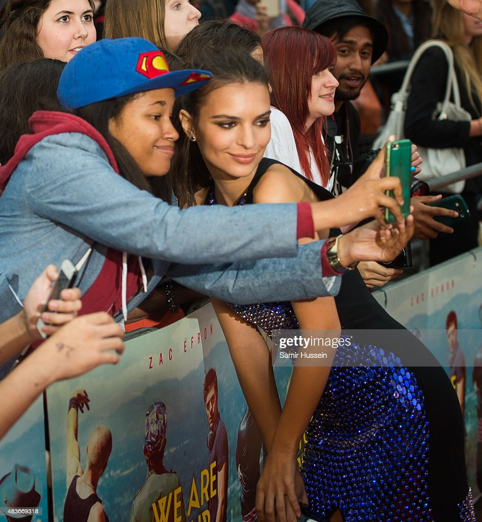 Emily Ratajkowski meets fans as she attends the European Premiere of 'We Are Your Friends' at Ritzy Brixton on August 11, 2015 in London, England.