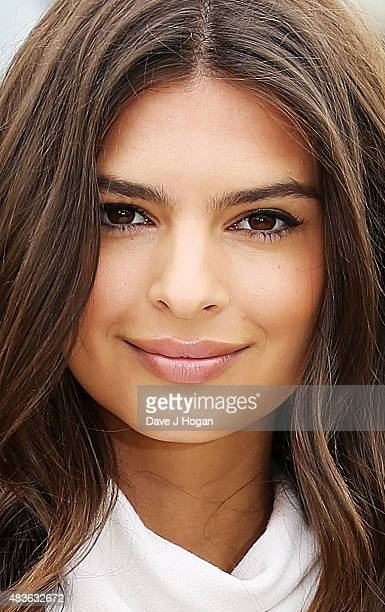 Emily Ratajkowski poses at the 'We Are Your Friends' photocall at the Corinthia Hotel London on August 11 2015 in London England