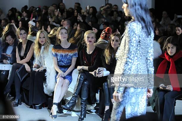 Emily Ratajkowski Rachel Zoe Jaime King Kate Bosworth and Olivia Palermo attend the Altuzarra Fall 2016 fashion show during New York Fashion Week at...