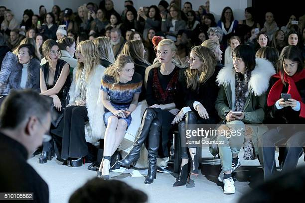 Emily Ratajkowski Rachel Zoe Jaime King Kate Bosworth Olivia Palermo and Leandra Medine attend the Altuzarra Fall 2016 fashion show during New York...