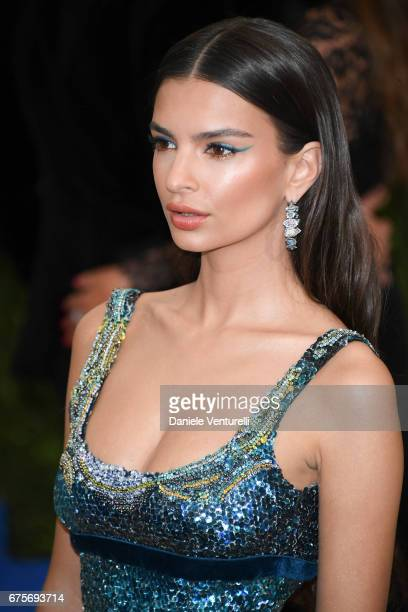 Emily Ratajowski attends 'Rei Kawakubo/Comme des Garcons Art Of The InBetween' Costume Institute Gala Arrivals at Metropolitan Museum of Art on May 1...