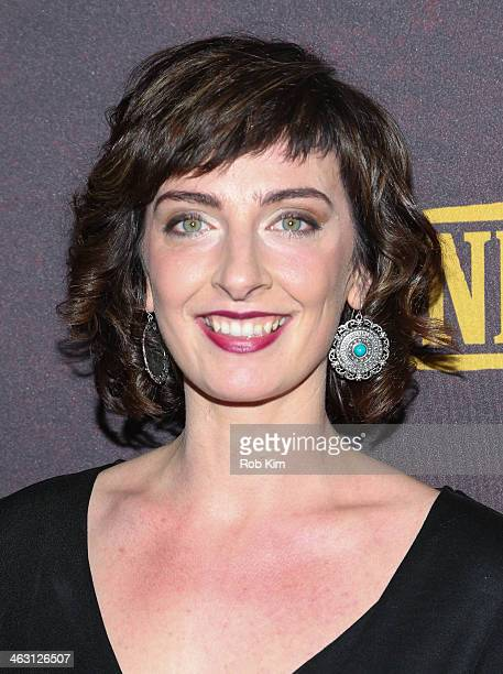 Emily Riedel attends the Klondike series premiere at Best Buy Theater on January 16 2014 in New York City