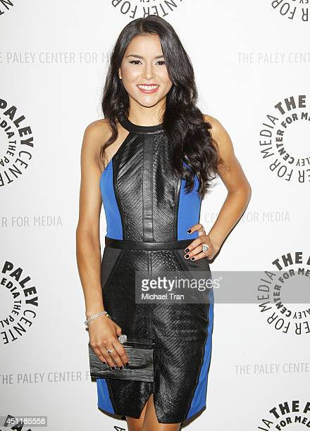 Emily Rios arrives at premiere screening of FX's 'The Bridge' held at The Paley Center for Media on June 24 2014 in Beverly Hills California