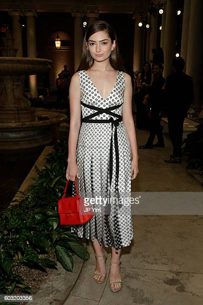 Emily Robinson attends the Carolina Herrera fashion show during New York Fashion Week on September 12 2016 in New York City