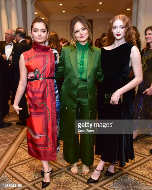 Emily Robinson Emily Mead and Larsen Thompson attend BCNY 70th Annual Fall Dance at The Plaza Hotel on October 23 2018 in New York City